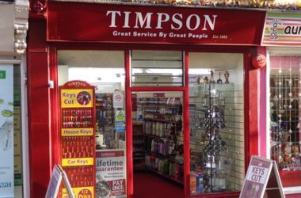 Timpson shopfront