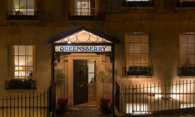 Entrance to the Queensberry Hotel.