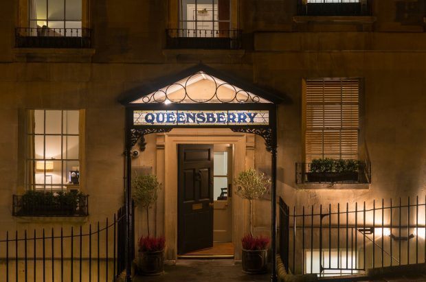 Entrance to the Queensberry Hotel