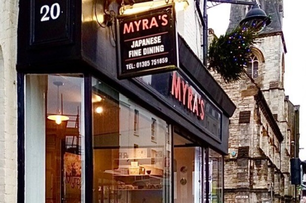 Exterior of Myra's Kaiseki Japanese restaurant.