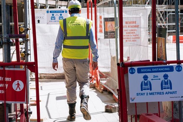 Barratt Homes construction site