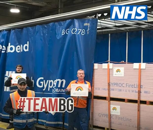 Loading a truck at British Gypsum