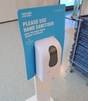 Primark hand sanitiser