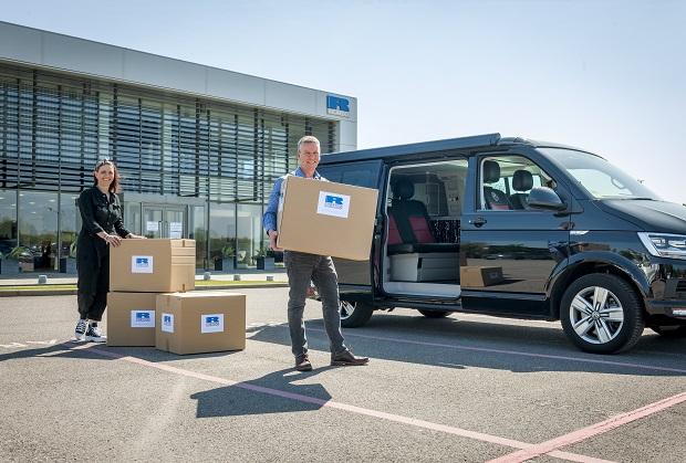 Loading vans at Ricardo