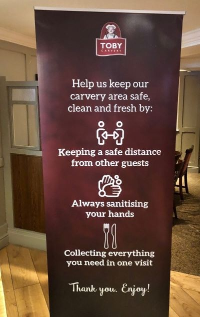 Sign at Toby Carvery
